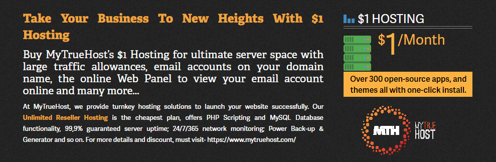 Unlimited Reseller Hosting, $1 Hosting