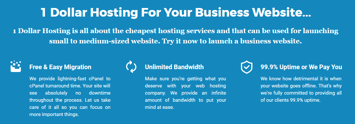 $1 Hosting, 1 Dollar Hosting, Unlimited Reseller Hosting