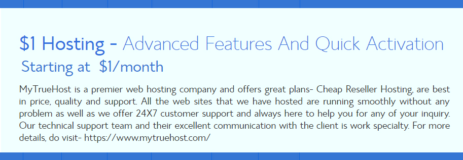 $1 Hosting, Cheap Reseller Hosting