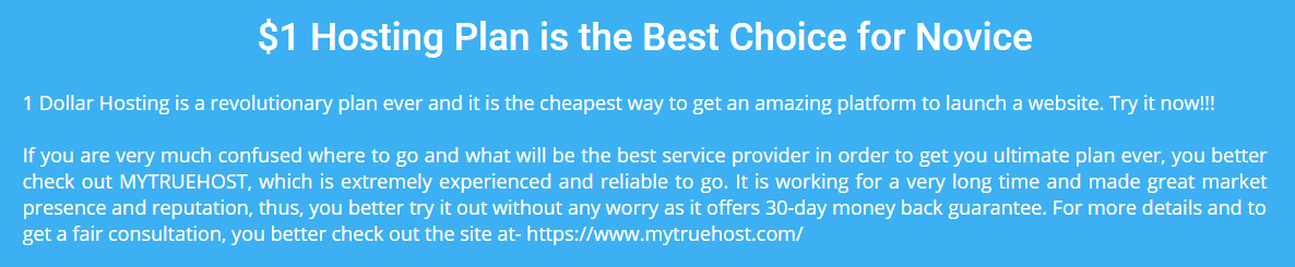 $1 Hosting, 1 Dollar Hosting, Cheap Reseller Hosting
