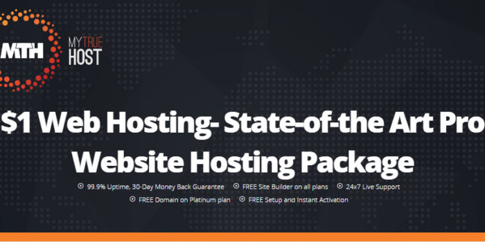 $1 Web Hosting- State-of-the Art Pro Website Hosting Package