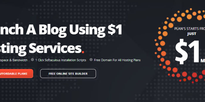 Launch A Blog Using $1 Hosting Services